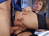 Omas beim Arschficken Analsex Orgie