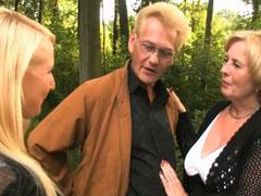 Geiles Pornocasting mit Oma und Opa