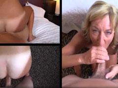 Oma von allen Seiten gefilmt