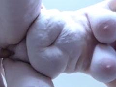 Fette Oma beim Sex von unten gefilmt
