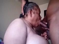 Oma Ebonyporno mit schwarzer Schlampe
