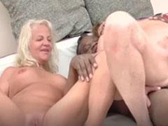 Guter neuer Oma Interracial Porno